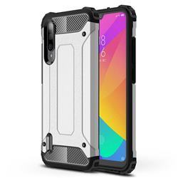 King Kong Armor Premium Shockproof Dual Layer Rugged Hard Cover for Xiaomi Mi CC9e - White