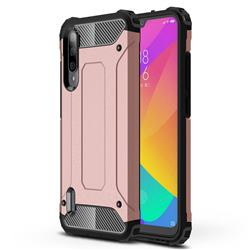 King Kong Armor Premium Shockproof Dual Layer Rugged Hard Cover for Xiaomi Mi CC9e - Rose Gold