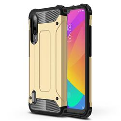 King Kong Armor Premium Shockproof Dual Layer Rugged Hard Cover for Xiaomi Mi CC9e - Champagne Gold