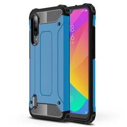 King Kong Armor Premium Shockproof Dual Layer Rugged Hard Cover for Xiaomi Mi CC9e - Sky Blue