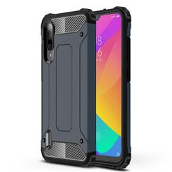 King Kong Armor Premium Shockproof Dual Layer Rugged Hard Cover for Xiaomi Mi CC9e - Navy