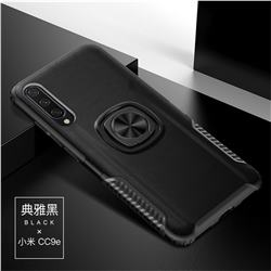 Knight Armor Anti Drop PC + Silicone Invisible Ring Holder Phone Cover for Xiaomi Mi CC9e - Black
