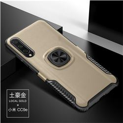 Knight Armor Anti Drop PC + Silicone Invisible Ring Holder Phone Cover for Xiaomi Mi CC9e - Champagne