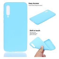 Soft Matte Silicone Phone Cover for Xiaomi Mi CC9e - Sky Blue