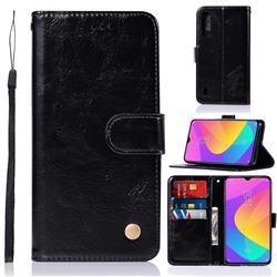 Luxury Retro Leather Wallet Case for Xiaomi Mi CC9e - Black