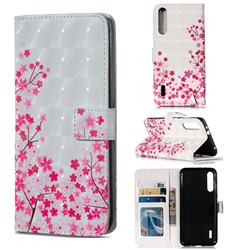 Cherry Blossom 3D Painted Leather Phone Wallet Case for Xiaomi Mi CC9e