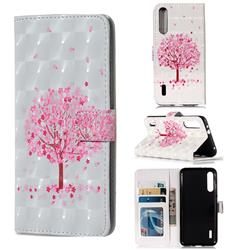 Sakura Flower Tree 3D Painted Leather Phone Wallet Case for Xiaomi Mi CC9e