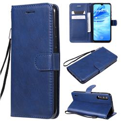Retro Greek Classic Smooth PU Leather Wallet Phone Case for Xiaomi Mi CC9e - Blue