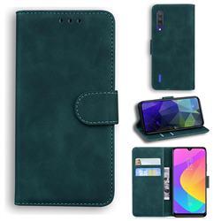 Retro Classic Skin Feel Leather Wallet Phone Case for Xiaomi Mi CC9e - Green