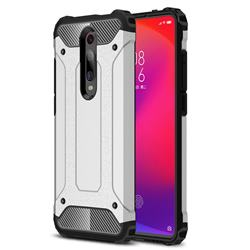 King Kong Armor Premium Shockproof Dual Layer Rugged Hard Cover for Xiaomi Redmi K20 / K20 Pro - White