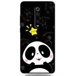 Cute Bear 3D Embossed Relief Black TPU Cell Phone Back Cover for Xiaomi Redmi K20 / K20 Pro