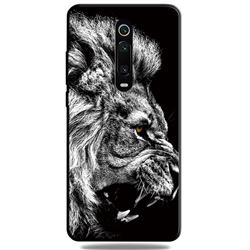Lion 3D Embossed Relief Black TPU Cell Phone Back Cover for Xiaomi Redmi K20 / K20 Pro