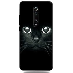 Bearded Feline 3D Embossed Relief Black TPU Cell Phone Back Cover for Xiaomi Redmi K20 / K20 Pro