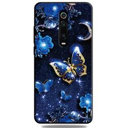 Phnom Penh Butterfly 3D Embossed Relief Black TPU Cell Phone Back Cover for Xiaomi Redmi K20 / K20 Pro