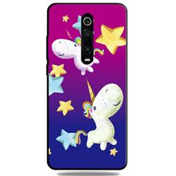 Pony 3D Embossed Relief Black TPU Cell Phone Back Cover for Xiaomi Redmi K20 / K20 Pro