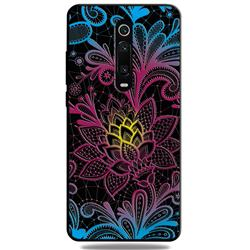 Colorful Lace 3D Embossed Relief Black TPU Cell Phone Back Cover for Xiaomi Redmi K20 / K20 Pro