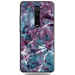 Marble 3D Embossed Relief Black TPU Cell Phone Back Cover for Xiaomi Redmi K20 / K20 Pro