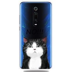 Cat Say No Clear Varnish Soft Phone Back Cover for Xiaomi Redmi K20 / K20 Pro