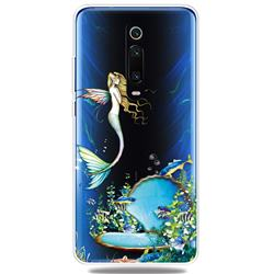 Mermaid Clear Varnish Soft Phone Back Cover for Xiaomi Redmi K20 / K20 Pro