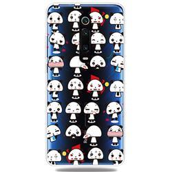 Mini Panda Clear Varnish Soft Phone Back Cover for Xiaomi Redmi K20 / K20 Pro