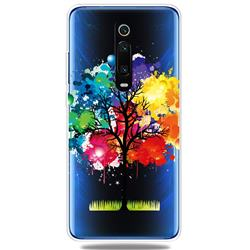 Oil Painting Tree Clear Varnish Soft Phone Back Cover for Xiaomi Redmi K20 / K20 Pro
