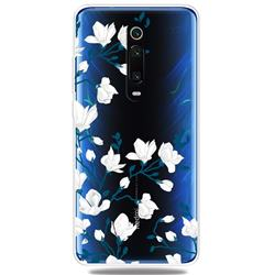 Magnolia Flower Clear Varnish Soft Phone Back Cover for Xiaomi Redmi K20 / K20 Pro