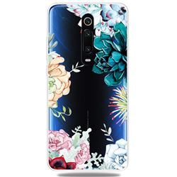 Gem Flower Clear Varnish Soft Phone Back Cover for Xiaomi Redmi K20 / K20 Pro