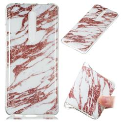 Rose Gold Grain Soft TPU Marble Pattern Phone Case for Xiaomi Redmi K20 / K20 Pro