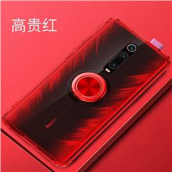 Anti-fall Invisible Press Bounce Ring Holder Phone Cover for Xiaomi Redmi K20 / K20 Pro - Noble Red