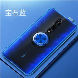 Anti-fall Invisible Press Bounce Ring Holder Phone Cover for Xiaomi Redmi K20 / K20 Pro - Sapphire Blue
