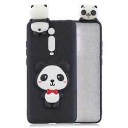 Red Bow Panda Soft 3D Climbing Doll Soft Case for Xiaomi Redmi K20 / K20 Pro