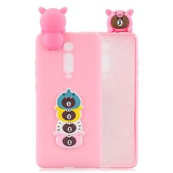 Expression Bear Soft 3D Climbing Doll Soft Case for Xiaomi Redmi K20 / K20 Pro