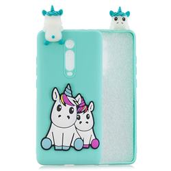 Couple Unicorn Soft 3D Climbing Doll Soft Case for Xiaomi Redmi K20 / K20 Pro