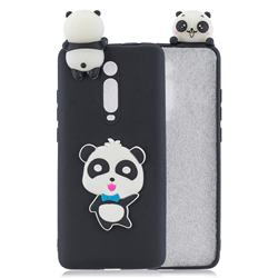 Blue Bow Panda Soft 3D Climbing Doll Soft Case for Xiaomi Redmi K20 / K20 Pro