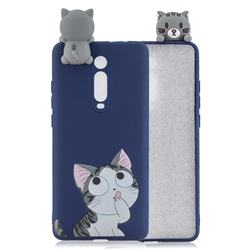 Big Face Cat Soft 3D Climbing Doll Soft Case for Xiaomi Redmi K20 / K20 Pro
