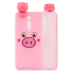 Small Pink Pig Soft 3D Climbing Doll Soft Case for Xiaomi Redmi K20 / K20 Pro