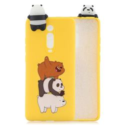 Striped Bear Soft 3D Climbing Doll Soft Case for Xiaomi Redmi K20 / K20 Pro