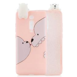 Big White Bear Soft 3D Climbing Doll Soft Case for Xiaomi Redmi K20 / K20 Pro