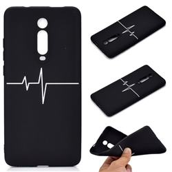 Electrocardiogram Chalk Drawing Matte Black TPU Phone Cover for Xiaomi Redmi K20 / K20 Pro