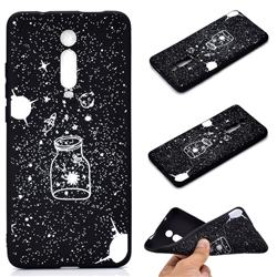Travel The Universe Chalk Drawing Matte Black TPU Phone Cover for Xiaomi Redmi K20 / K20 Pro