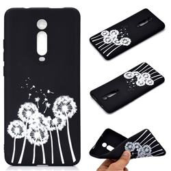 Dandelion Chalk Drawing Matte Black TPU Phone Cover for Xiaomi Redmi K20 / K20 Pro