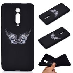 Wings Chalk Drawing Matte Black TPU Phone Cover for Xiaomi Redmi K20 / K20 Pro
