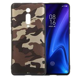 Camouflage Soft TPU Back Cover for Xiaomi Redmi K20 / K20 Pro - Gold Coffee
