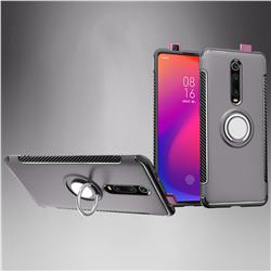 Armor Anti Drop Carbon PC + Silicon Invisible Ring Holder Phone Case for Xiaomi Redmi K20 / K20 Pro - Grey