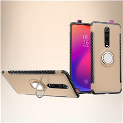 Armor Anti Drop Carbon PC + Silicon Invisible Ring Holder Phone Case for Xiaomi Redmi K20 / K20 Pro - Champagne