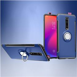 Armor Anti Drop Carbon PC + Silicon Invisible Ring Holder Phone Case for Xiaomi Redmi K20 / K20 Pro - Sapphire