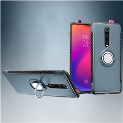 Armor Anti Drop Carbon PC + Silicon Invisible Ring Holder Phone Case for Xiaomi Redmi K20 / K20 Pro - Navy