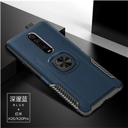 Knight Armor Anti Drop PC + Silicone Invisible Ring Holder Phone Cover for Xiaomi Redmi K20 / K20 Pro - Sapphire
