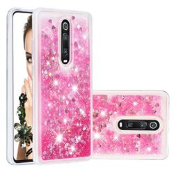 Dynamic Liquid Glitter Quicksand Sequins TPU Phone Case for Xiaomi Redmi K20 / K20 Pro - Rose