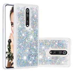 Dynamic Liquid Glitter Quicksand Sequins TPU Phone Case for Xiaomi Redmi K20 / K20 Pro - Silver